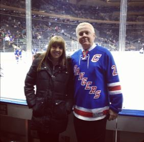 Brittany & Dad at Rangers Game