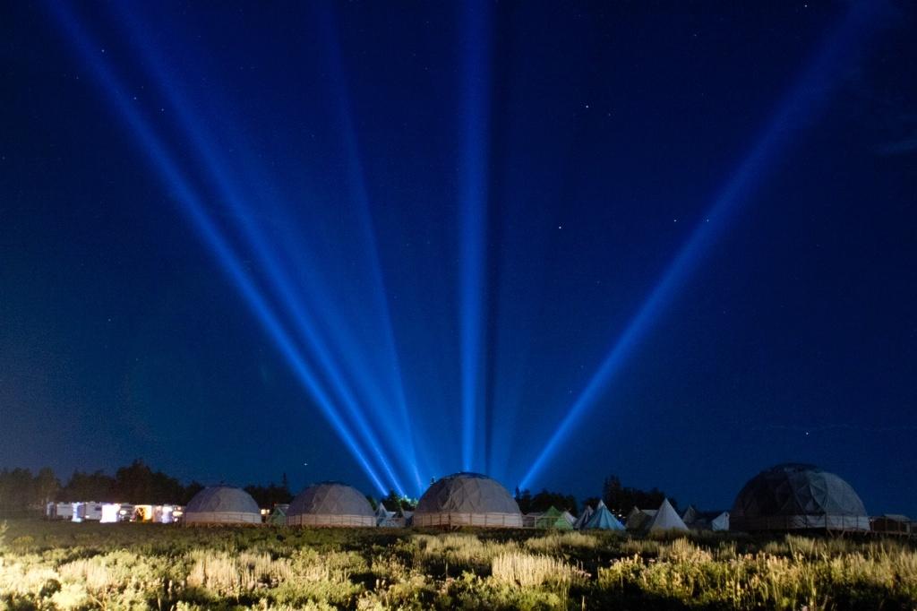 Summit Outside Night Lights