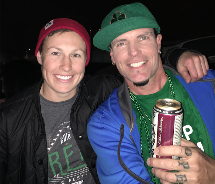 Red Frog Events and Fire Fly Music Festival Christiane Pheil with Vanilla Ice