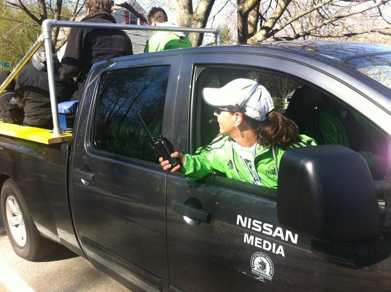 Christine Bowen at Boston Marathon