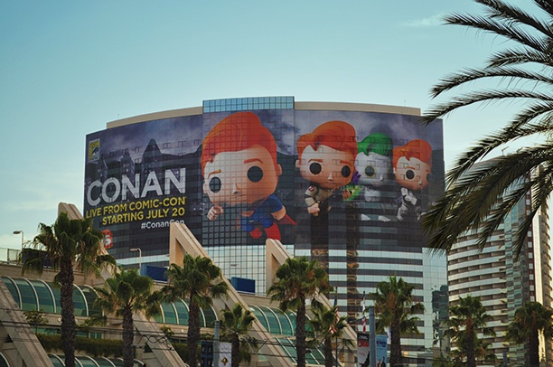 Conan Obrien Building Wrap Photo Big Picture Comic Con International San Diego David Glanzer