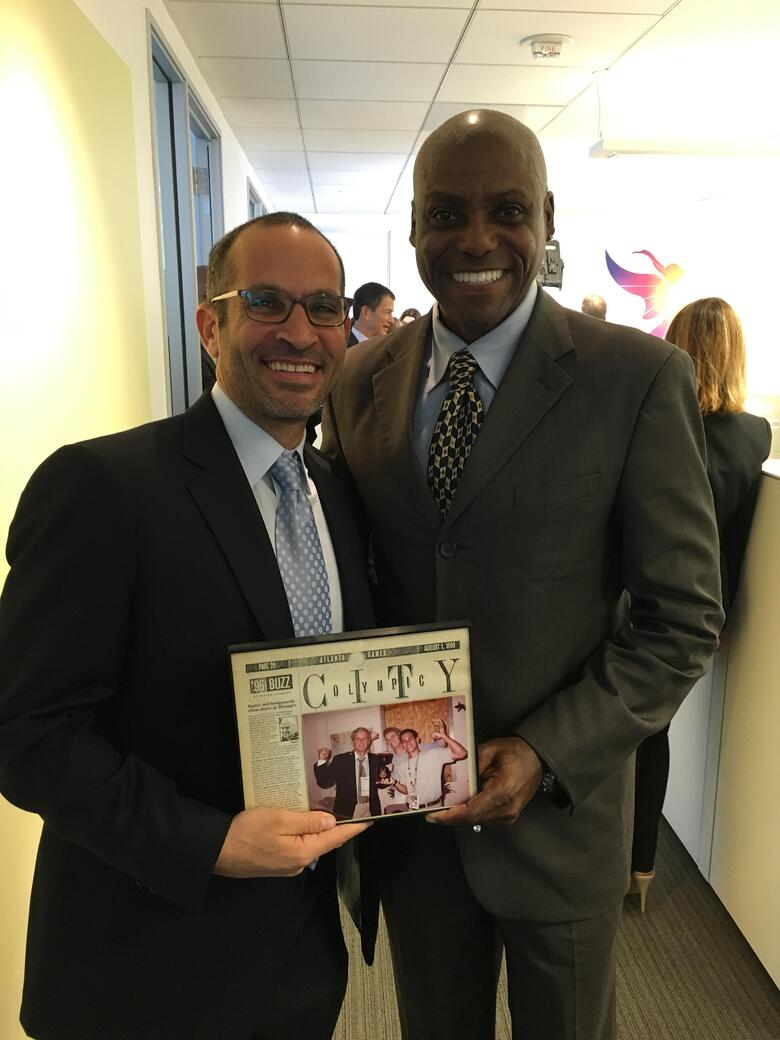 LA 2024 Olympic and Paralympic Bid Process - Danny Koblin and Carl Lewis.jpg