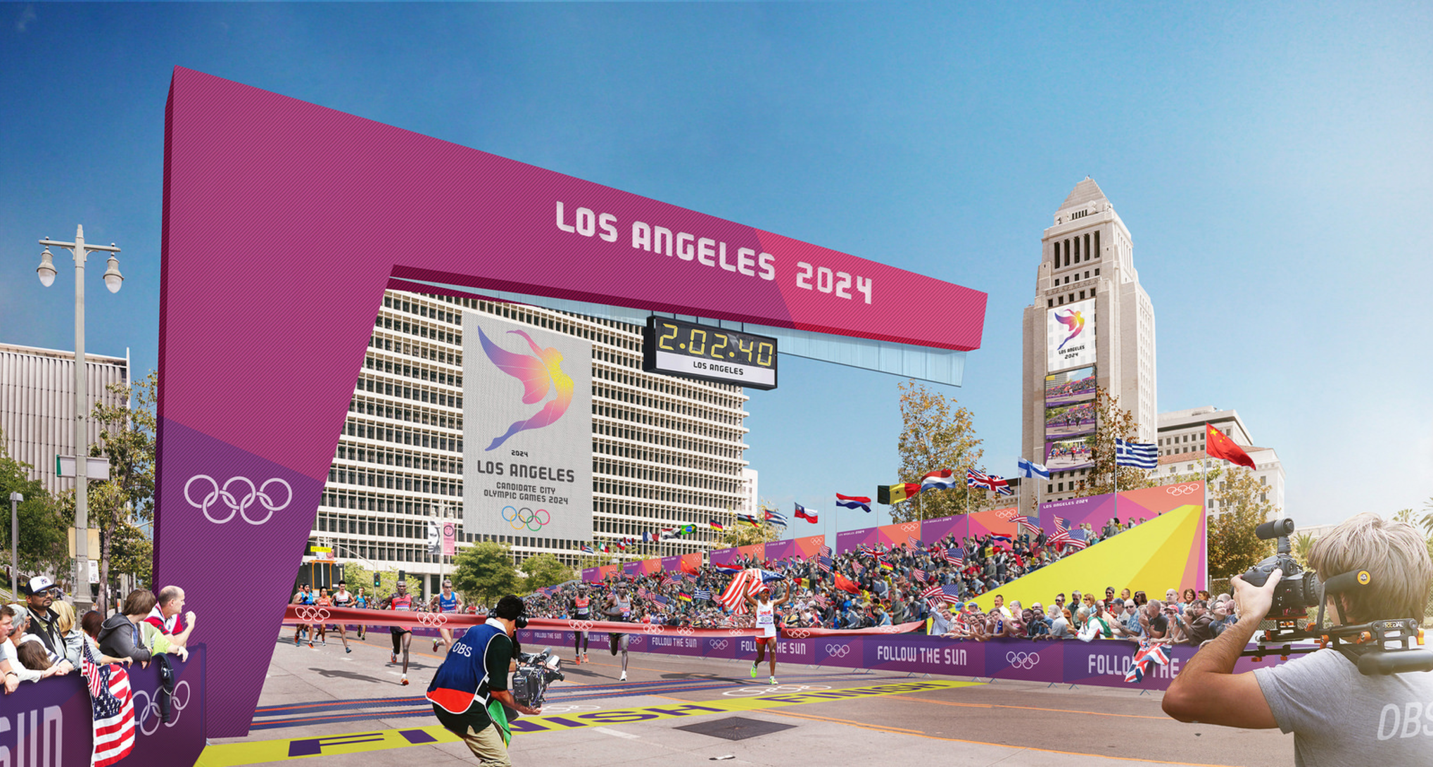 LA 2024 Olympic and Paralympic Bid Process - LA 2024 Marathon Rendering
