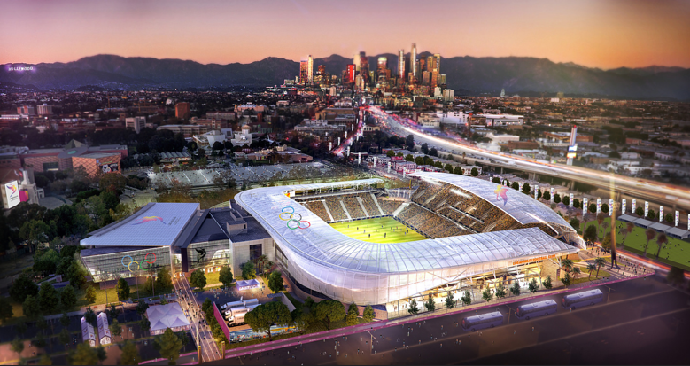 LA 2024 Olympic and Paralympic Bid Process - LA 2024 Soccer Stadium Rendering