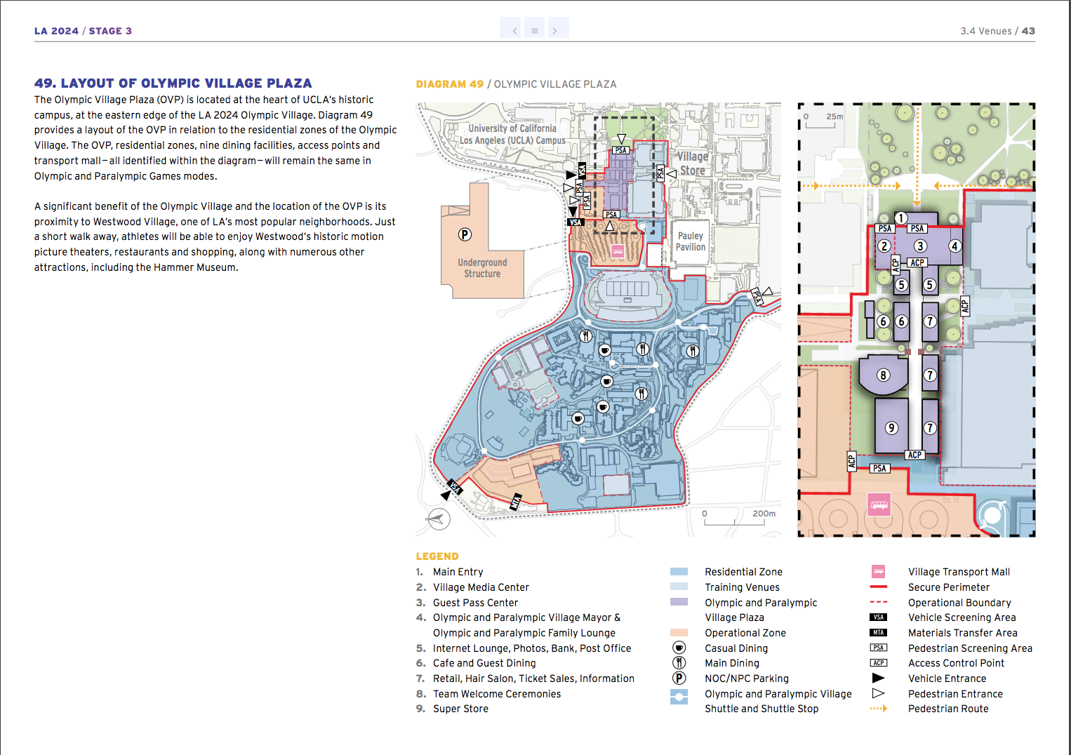 LA 2024 Olympic and Paralympic Bid Process - LA 2024 Athlete Village Map