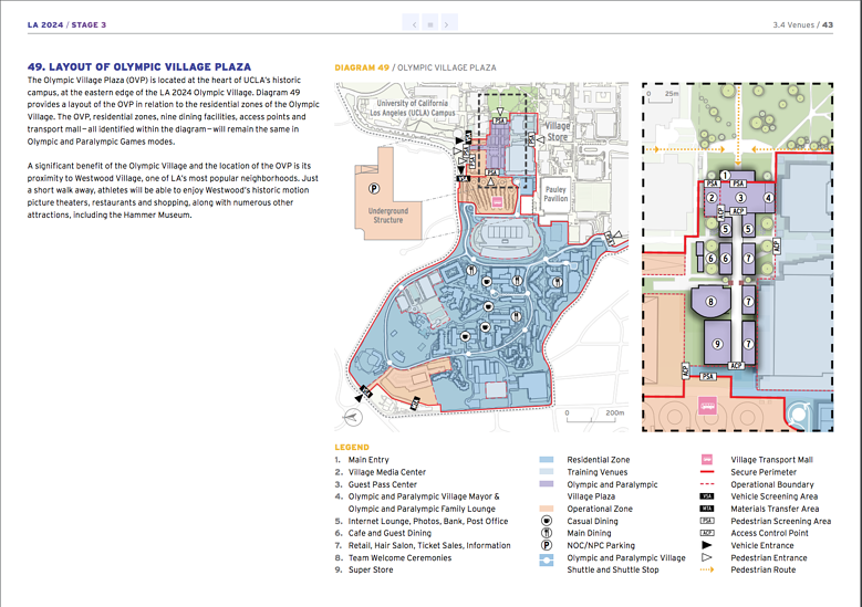 LA 2024 Olympic and Paralympic Bid Process - LA 2024 Athlete Village Map