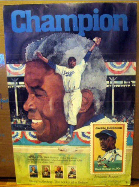 LA 2024 Olympic and Paralympic Bid Process - Jackie Robinson Poster in Danny Koblin room