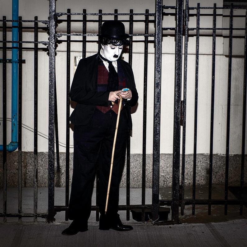 Village Halloween Parade Charlie Chaplin
