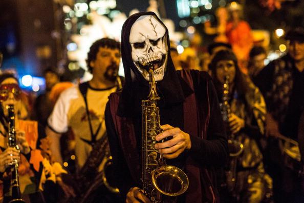 Village Halloween Parade Musician