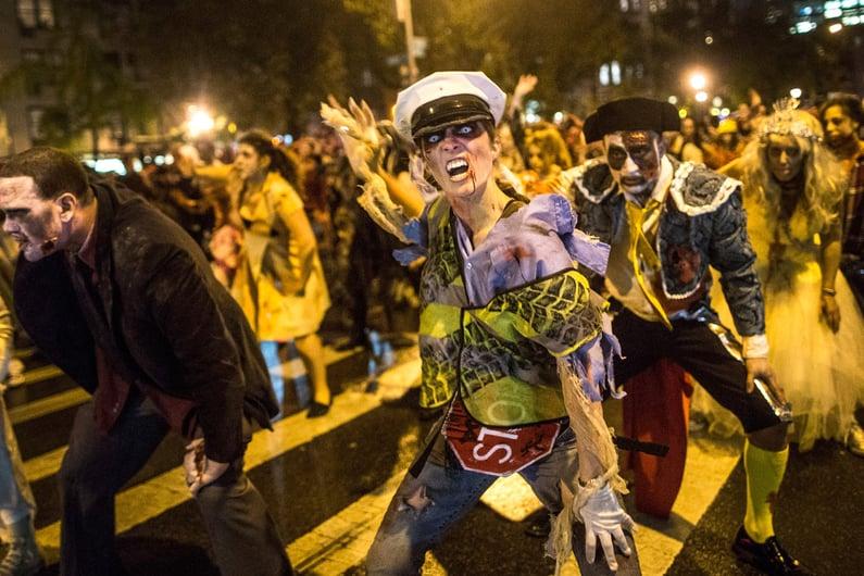 Village Halloween Parade Thriller Performance
