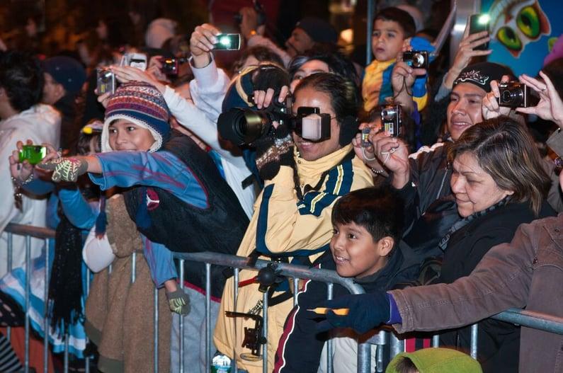 Village Halloween Parade Audience