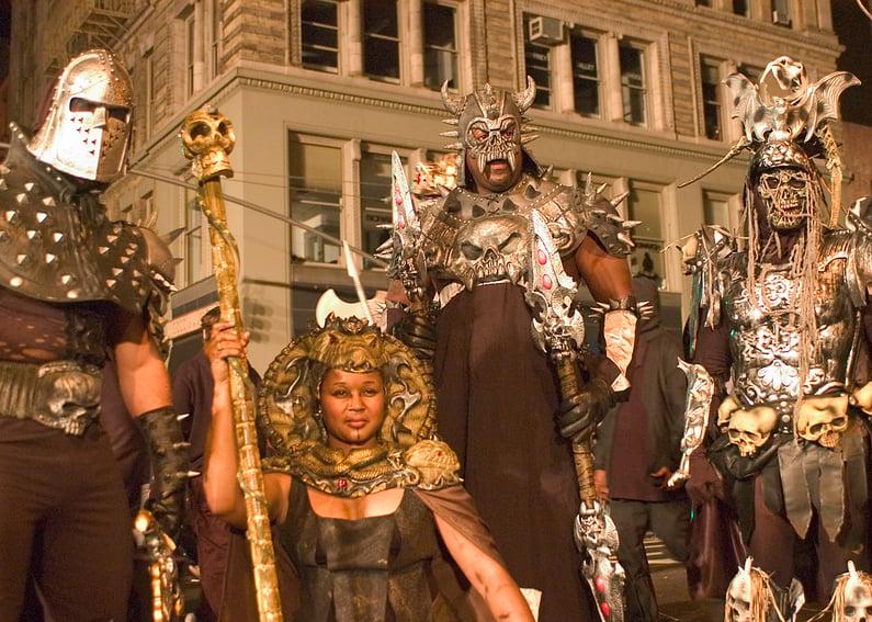 Village Halloween Parade Gothic Warriors