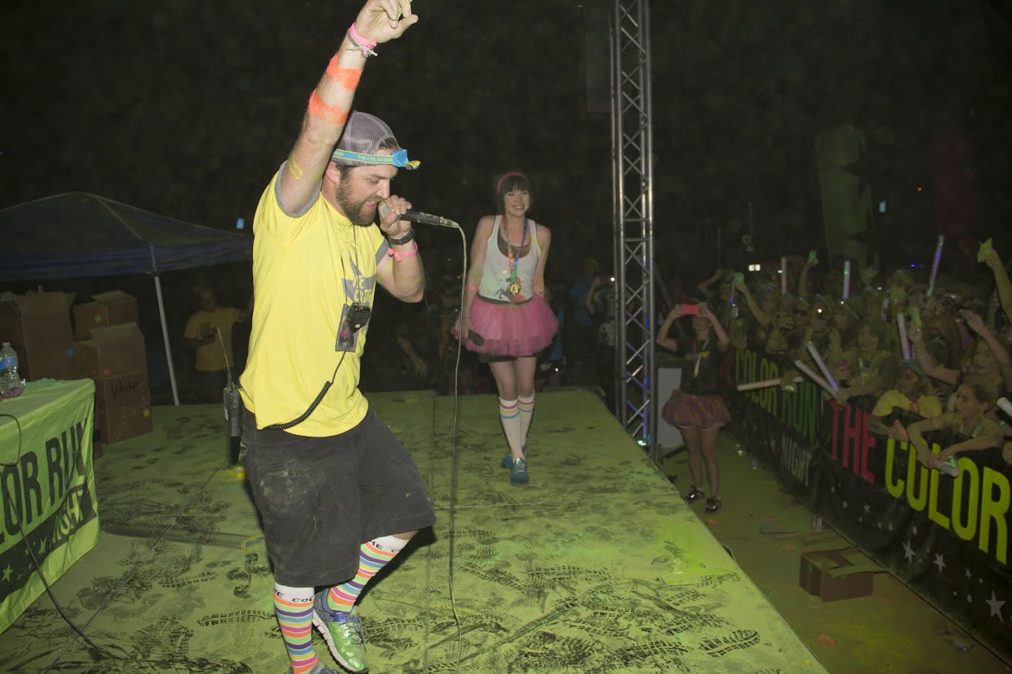 John Connors on stage at the Color Run