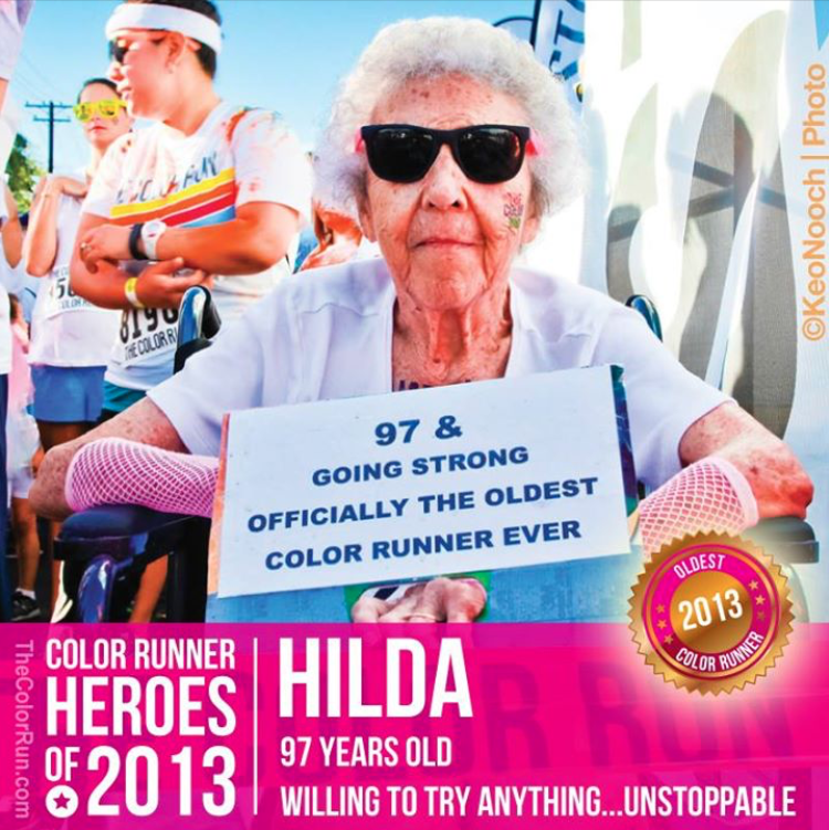 Oldest person to run the Color Run (97) - Lennd.com