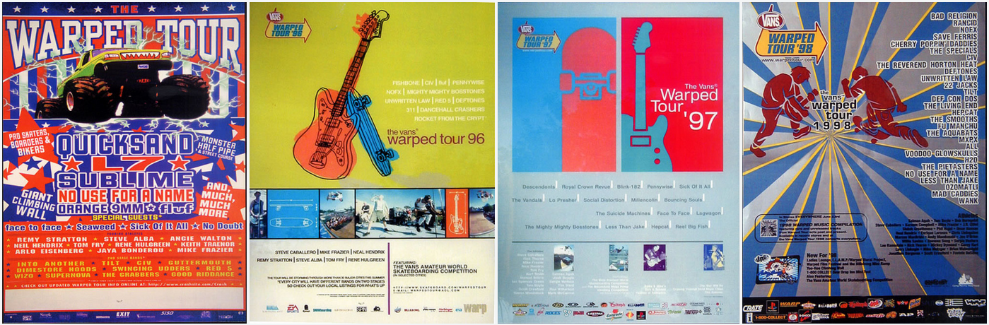 Warped Tour Posters 1995 - 2016