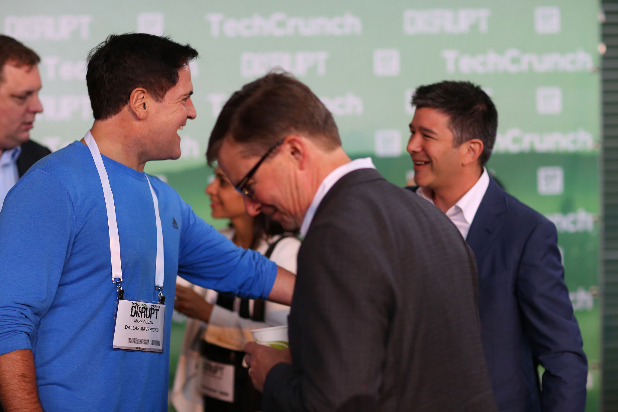 Mark Cuban and Travis Kalinack at TechCrunch Disrupt