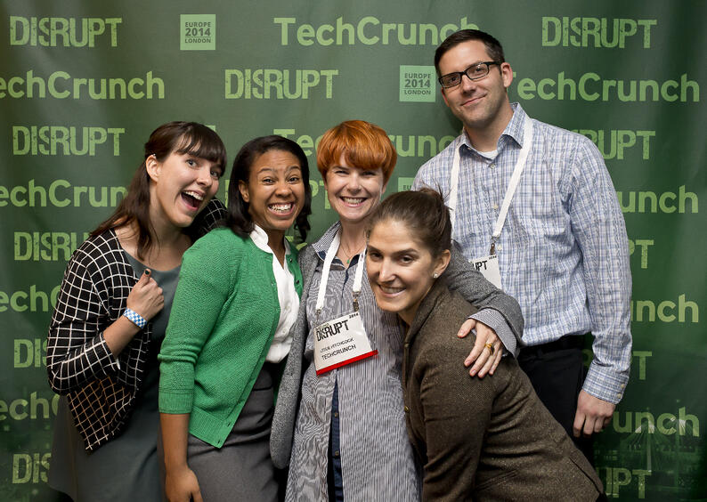 TechCrunch Disrupt Event Producer and her team