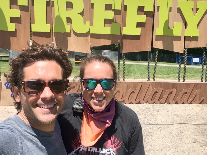 Chris Carver (LENND) and Megan Marshall (Red Frog Events) at Firefly Music Festival