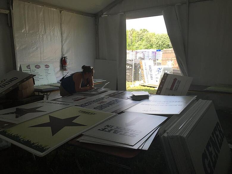 Firefly Music Festival Staff Check-in