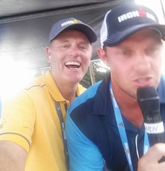 The Voice of Ironman Mike Reilly and son Andy Reilly