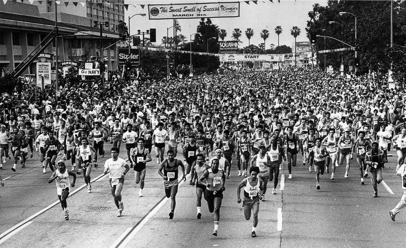 Murphy Reinschreiber Conqur Enduarance Group - 1986 Los Angeles Marathon