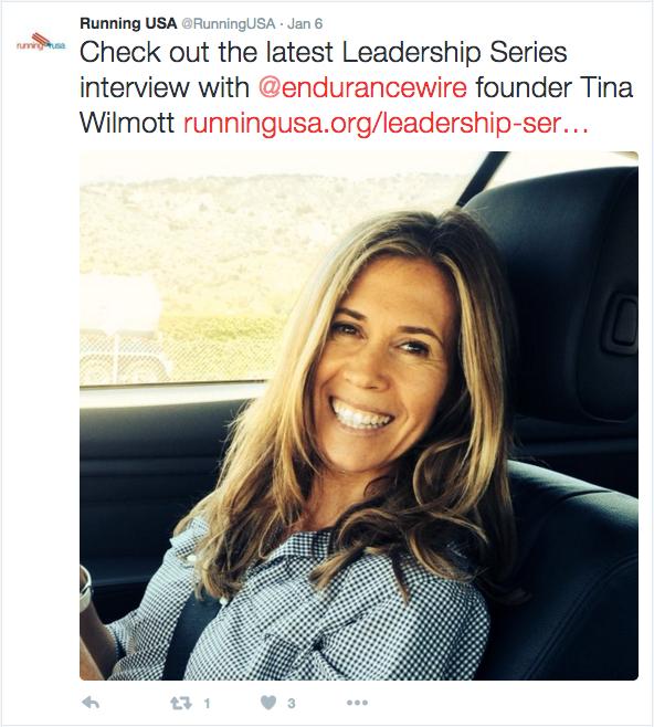 Tina Wilmott Endurance Sportswire RunningUSA interview