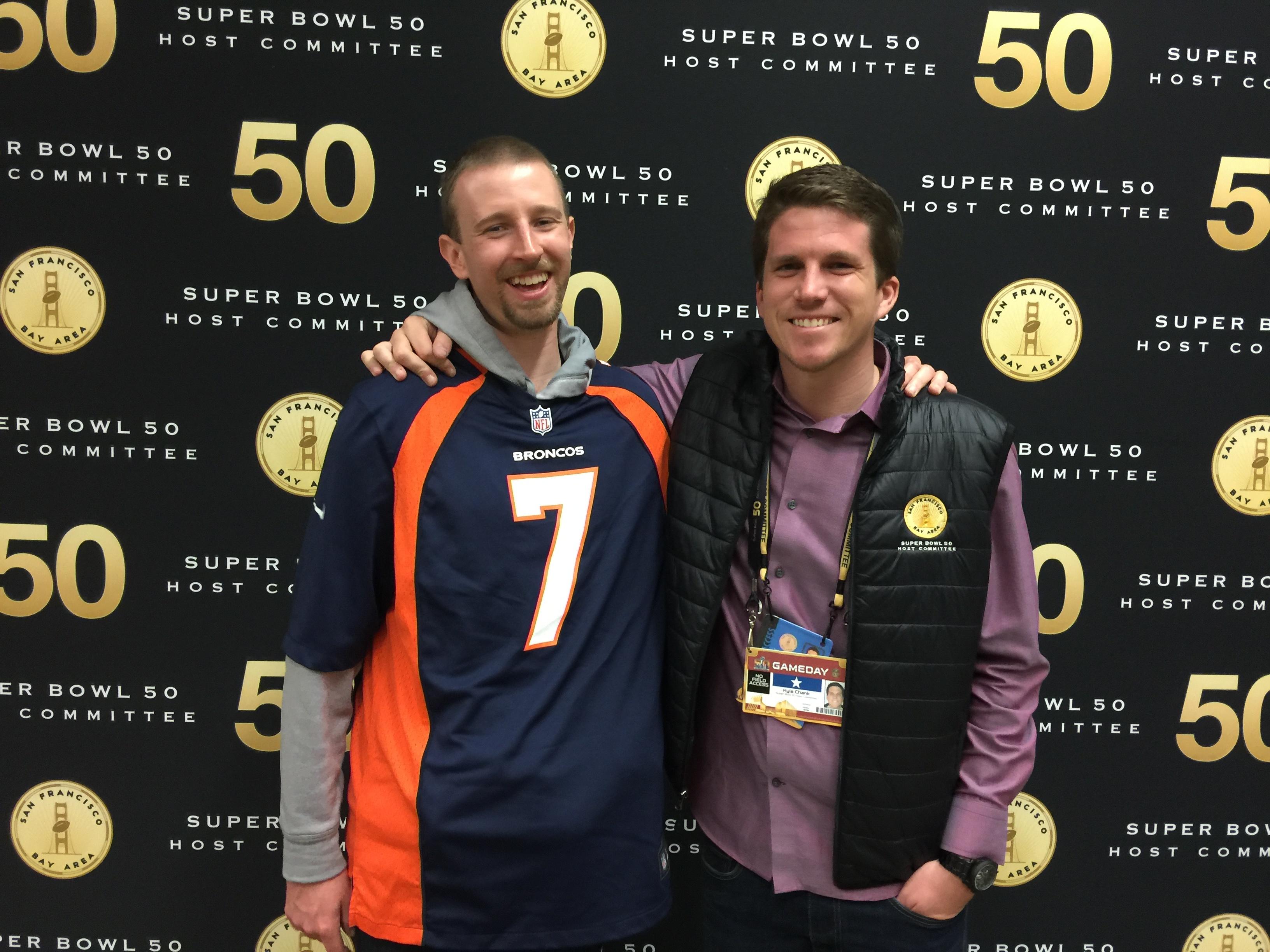 Best Friend used my ticket to see Broncos win SB50.jpg