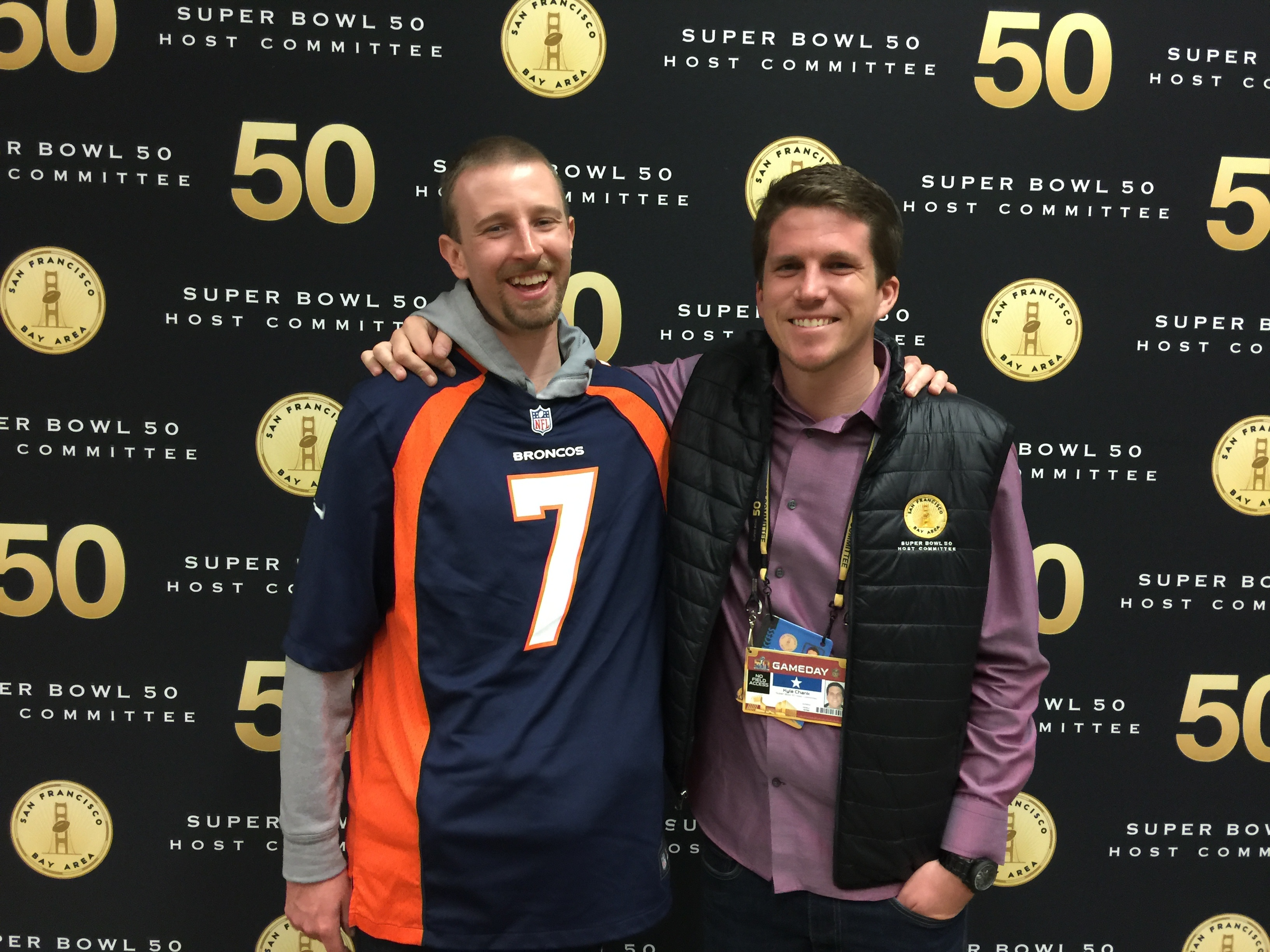 Best Friend used my ticket to see Broncos win SB50.jpg